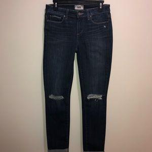 Paige Sz 29 Dark Wash Kylie Crop Distressed Jeans